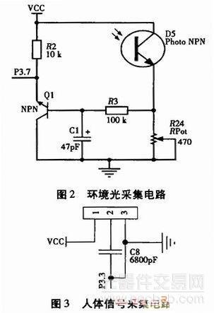 热释电红外传感器,根据此芯片的功能特点设计的人体信号采集电路如图3