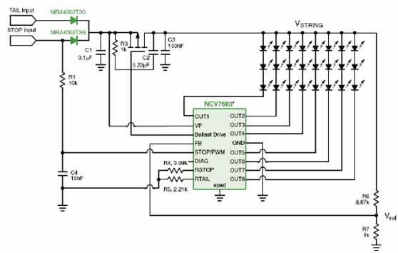 分立元件恒流电路图