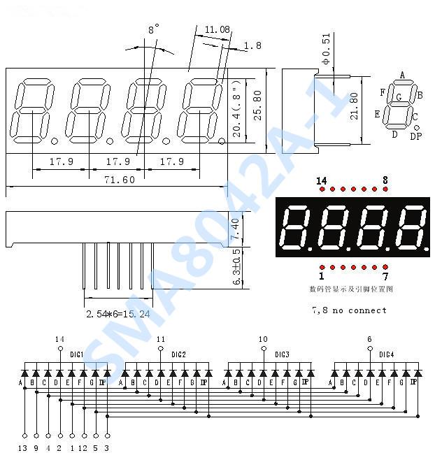 [供应]供应工业级四位数码管 0.