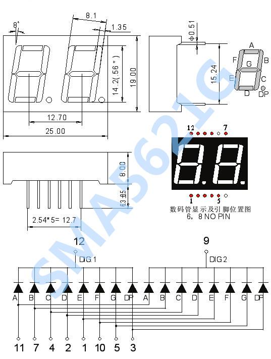"""LED数码管动态显示接口是单片机中应用最为广泛的一种显示 方式之一,动态驱动是将所有数码管的8个显示笔划""""a,b,c,d, e,f,g,dp""""的同名端连在一起,另外为每个数码管的公共极COM 增加位选通控制电路,位选通由各自独立的I/O线控制,当单 片机输出字形码时,单片机对位选通COM端电路的控制,所以 我们只要将需要显示的数码管的选通控制打开,该位就显示出 字形,没有选通的数码管就不会亮。通过分时轮流控制各个数 码管的的COM端,就使各个数码管轮流受控显示,这就是动态 驱动。在轮流"""