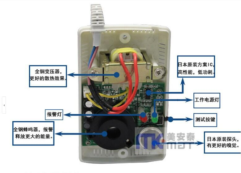 煤气探测器/煤感探头/可燃气感应无线独立液化气体器