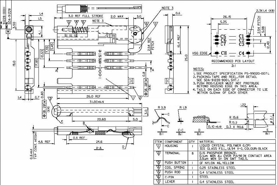 [供应]供应sim卡座连接器 sim卡座抽屉式8pin sim 卡座 抽屉式8pin