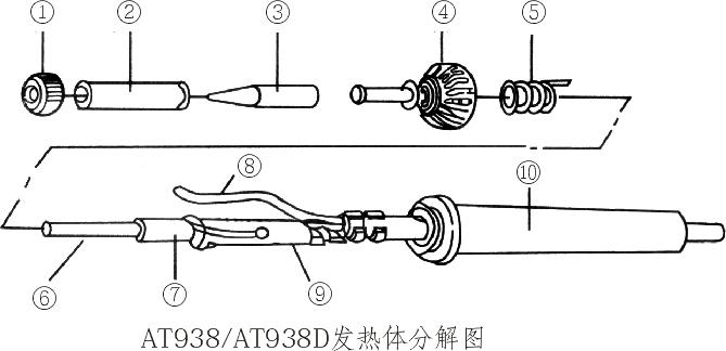 电烙铁电焊台安泰信电焊台at938d