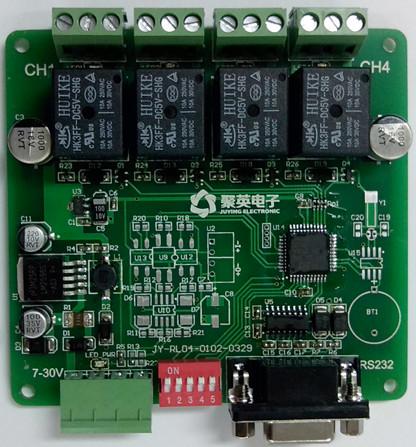 产品功能 ◆ 四路继电器控制 ◆ 支持5位寻址地址 ◆ rs232