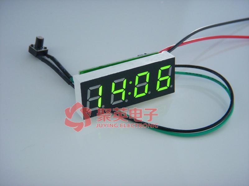 40车载电子时钟 汽车电子表 车用电子钟 led时间表 夜光 秒表 0.